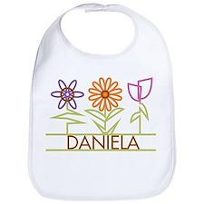 Daniela with cute flowers Bib