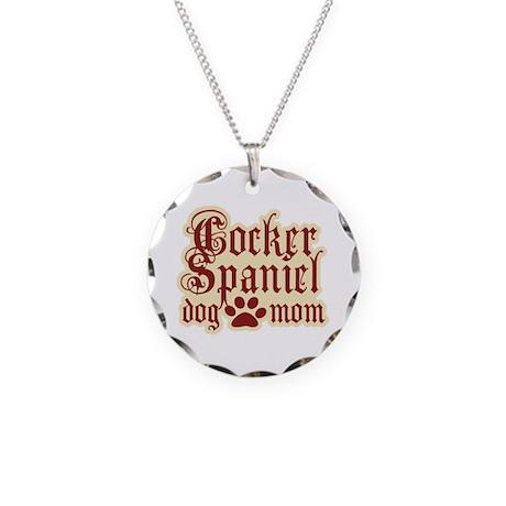 Cocker Spaniel Mom Necklace Circle Charm