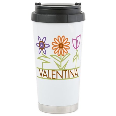 Valentina with cute flowers Stainless Steel Travel