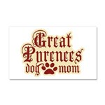 Great Pyrenees Mom Car Magnet 20 x 12