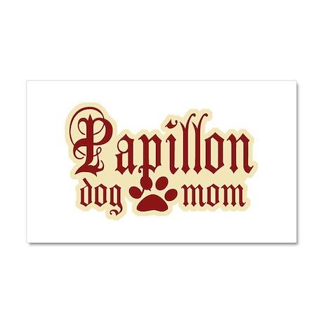 Papillon Mom Car Magnet 20 x 12