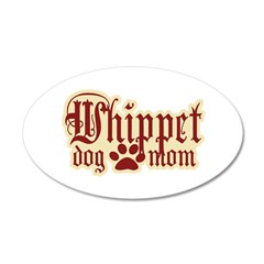 Whippet Mom 38.5 x 24.5 Oval Wall Peel