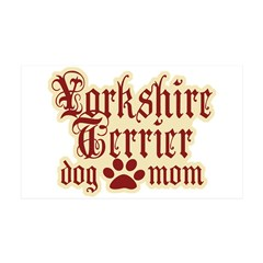Yorkshire Terrier Mom 38.5 x 24.5 Wall Peel