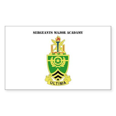 DUI - Sergeants Major Academy with Text Sticker (R