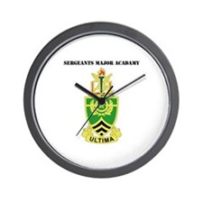 DUI - Sergeants Major Academy with Text Wall Clock