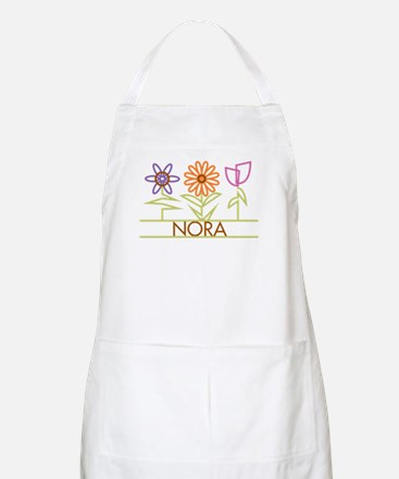 Nora with cute flowers Apron