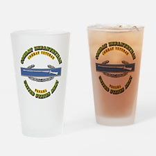 Army - CIB - 1st Award - Panama Drinking Glass