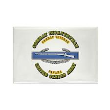 Army - CIB - 1st Award - Panama Rectangle Magnet