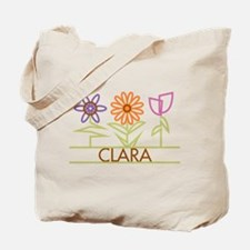 Clara with cute flowers Tote Bag