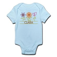 Clara with cute flowers Infant Bodysuit