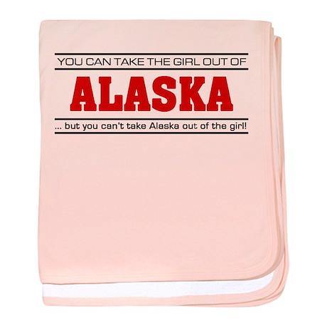 'Girl From Alaska' baby blanket