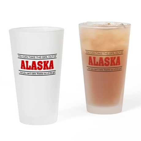 'Girl From Alaska' Drinking Glass