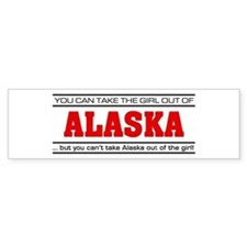 'Girl From Alaska' Bumper Sticker
