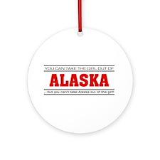 'Girl From Alaska' Ornament (Round)