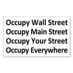 Occupy Every Street Sticker (Rectangle)
