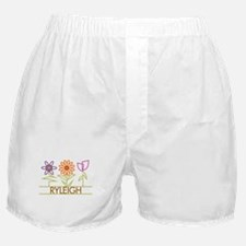 Ryleigh with cute flowers Boxer Shorts
