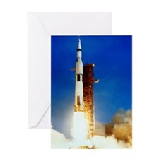 Saturn V Launch Greeting Card