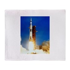 Saturn V Launch Throw Blanket