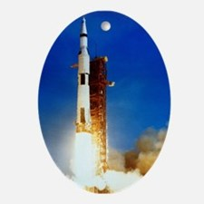 Saturn V Launch Ornament (Oval)