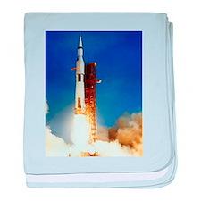 Saturn V Launch baby blanket