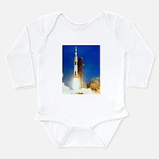 Saturn V Launch Long Sleeve Infant Bodysuit