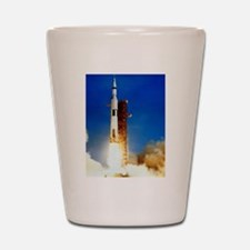 Saturn V Launch Shot Glass