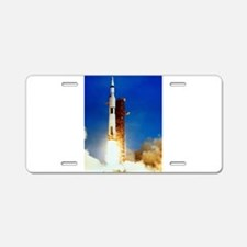 Saturn V Launch Aluminum License Plate