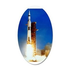 Saturn V Launch 22x14 Oval Wall Peel