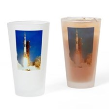 Saturn V Launch Drinking Glass
