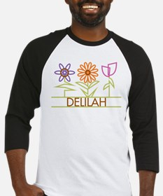 Delilah with cute flowers Baseball Jersey