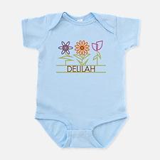 Delilah with cute flowers Infant Bodysuit