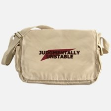 Judgmentally Unstable Red Messenger Bag
