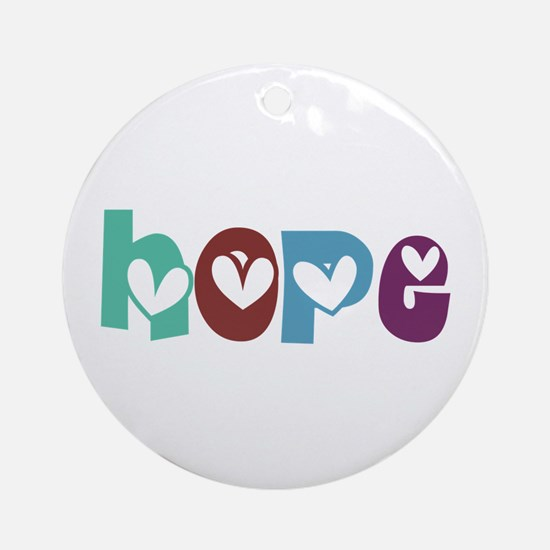 Hope_4Color_3 Ornament (Round)