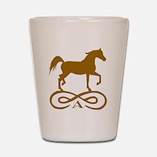 Gold Infinity Arabian Shot Glass