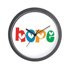 Hope_4Color_1 Wall Clock