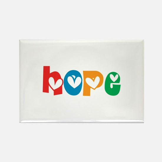 Hope_4Color_1 Rectangle Magnet