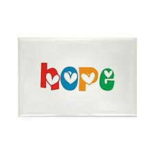 Hope_4Color_1 Rectangle Magnet (100 pack)