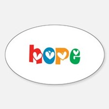 Hope_4Color_1 Sticker (Oval)