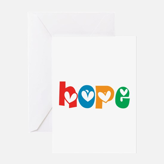 Hope_4Color_1 Greeting Card