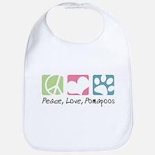 Peace, Love, Pomapoos Bib