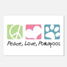 Peace, Love, Pomapoos Postcards (Package of 8)