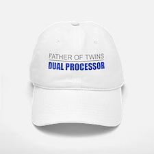 Father of Twins Dual Processor Baseball Baseball Cap