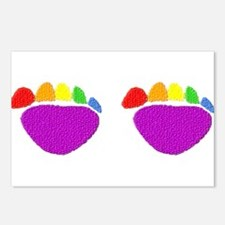 RAINBOW BEAR PAWS SIDE BY SIDE Postcards (Package