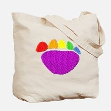 RAINBOW BEAR PAWS SIDE BY SIDE Tote Bag