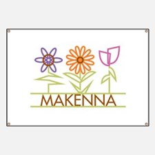 Makenna with cute flowers Banner