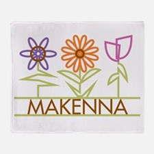 Makenna with cute flowers Throw Blanket