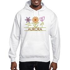 Aurora with cute flowers Hoodie Sweatshirt