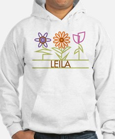 Leila with cute flowers Jumper Hoody