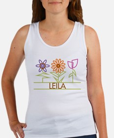 Leila with cute flowers Women's Tank Top