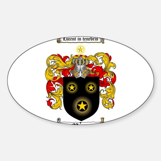 MORAN CREST Sticker (Oval)